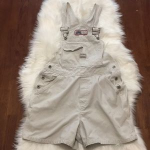 Vintage Overalls Old Navy Jeans Khaki Small